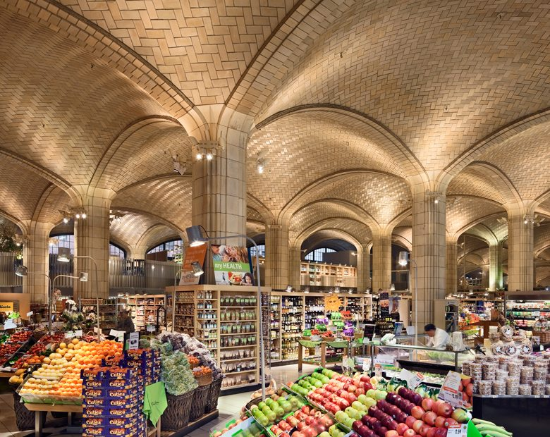 Queensboro Bridgmarket, New York City, Guastavino Tile, Boston Valley Terra Cotta, Hardy Holzman Pfeiffer Associates, Fruit