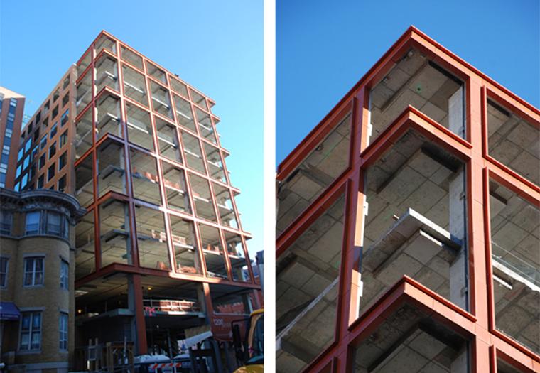 Precast Terra Cotta Panels, Architectural Facade, custom glaze, pre-cast
