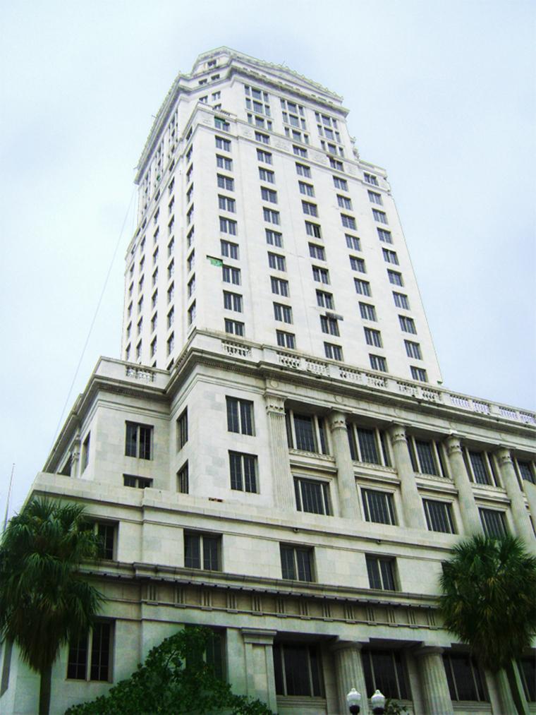 Miami Dade Courthouse Building, miami, florida, architectural restoration, boston valley terra cotta