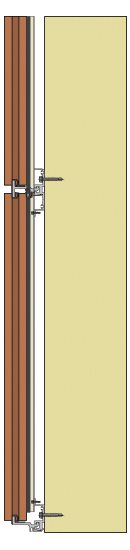 Cross section illustration of the Boston Valley TerraClad system horizontal track.
