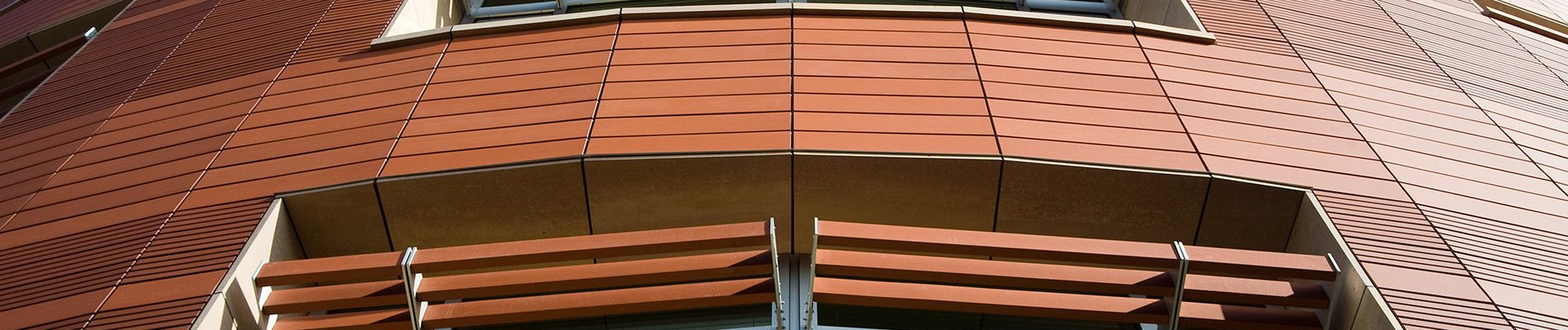 TerraClad architectural terra cotta rainscreen and sunshade systems.