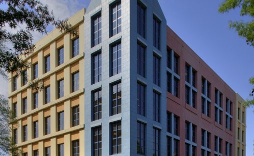 Jersey City University Arts and Science Tower, Jersey City, NJ, Boston Valley Terra Cotta, TerraPreCast, New Build