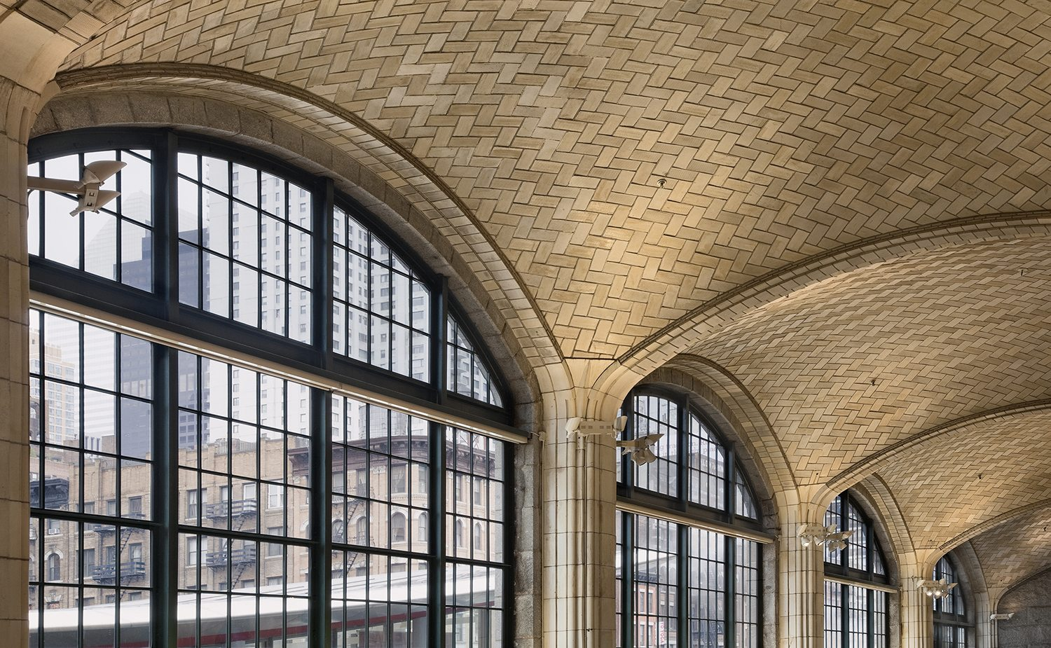 Queensboro Bridgmarket in New York City lined with extruded terra cotta Guastavino Tile, providing structure and beauty.