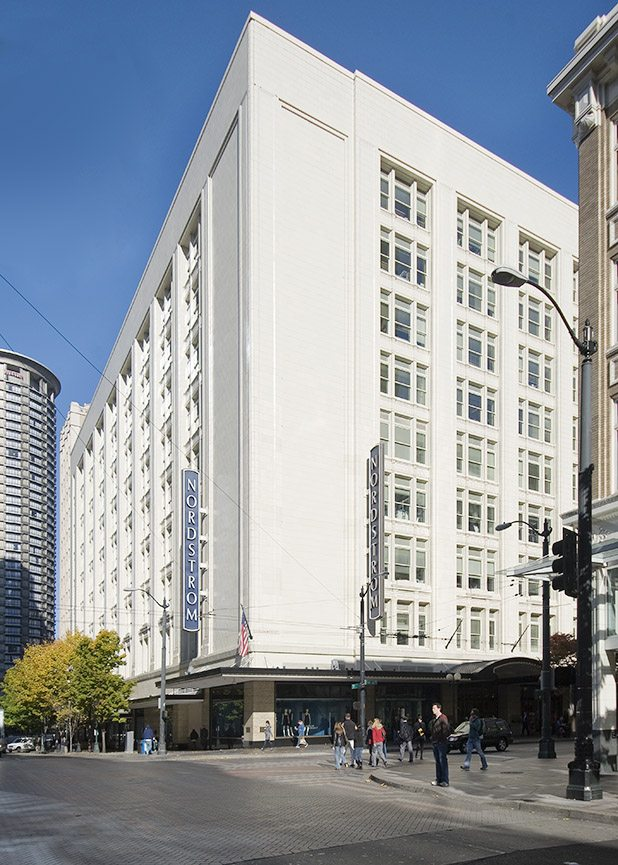 Nordstrom store in Seattle WA, Restoration project from Boston Valley Terra Cotta, Terra Cotta Masonry, Hand Press and RAM Press