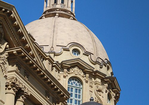 Alberta Legislature Dome, Canada, Restoration, terra cotta masonry, architectural terra cotta