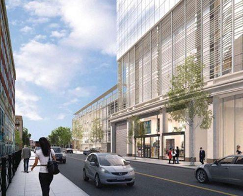 250 Delaware Avenue, architectural restoration, Terraclad sunshade