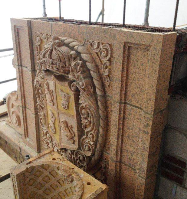 Marion Palace Theatre, Marion Ohio, Terra Cotta Restoration, Custom Glaze
