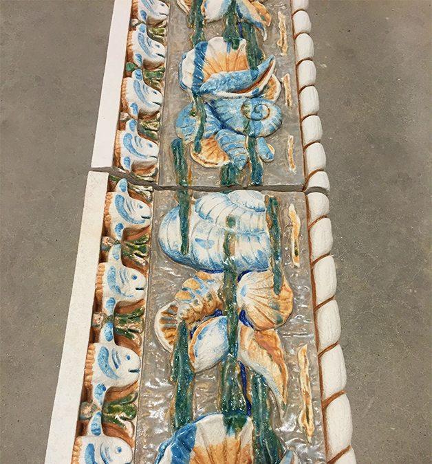 Hand glazed terra cotta, restoration, Coney Island, Childs Restaurant, Seaside Park and Community Art Center