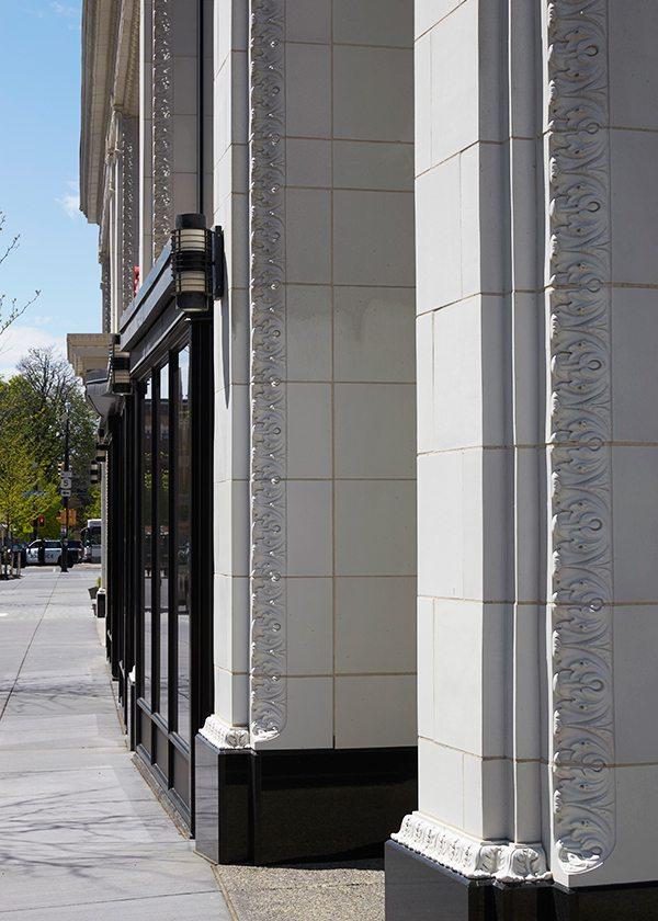 250 Delaware Ave, Terra Cotta recreation, Buffalo NY, Historic, Delaware North, Boston Valley Terra Cotta