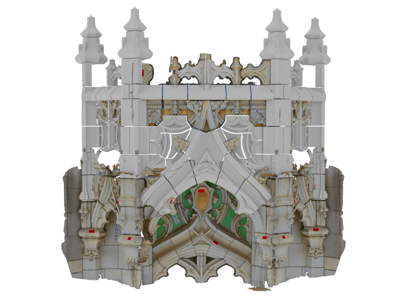 Woolworth Building, Terra Cotta, 3D rendering, Quality Control, Digital scan, Boston Valley