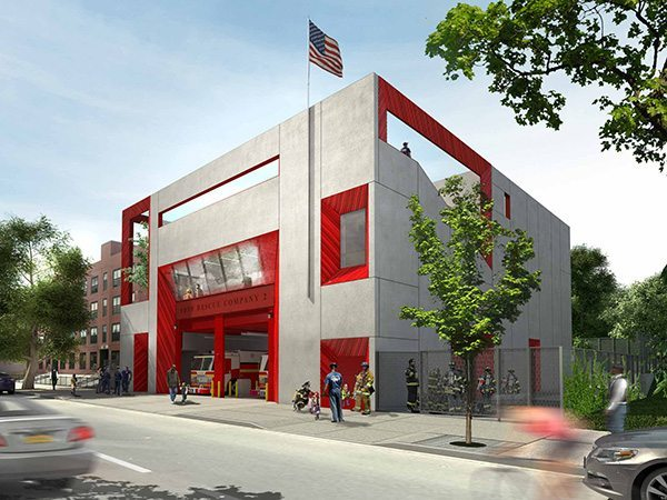 New York Fire Department, Rescue Company 2, Boston Valley Terra Cotta, Studio Gang