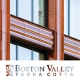 The front cover of the 10 Bond Street case study brochure featuring a close up shot of the facade, one of Boston Valley's projects