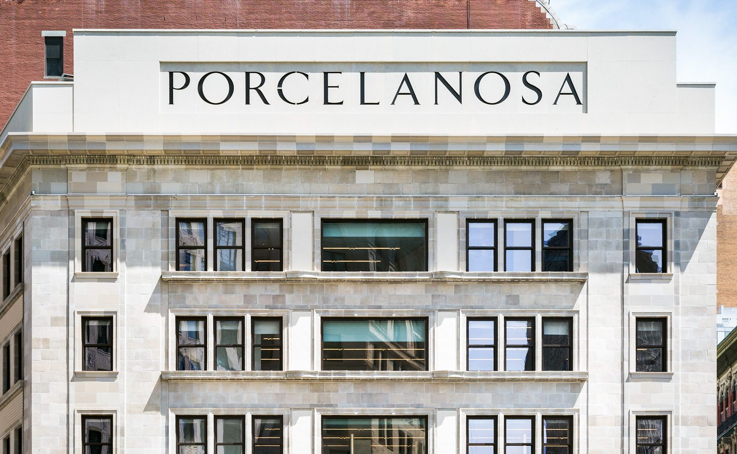 Porcelanosa Headquarters, Terra Cotta Masonry, architectural restoration
