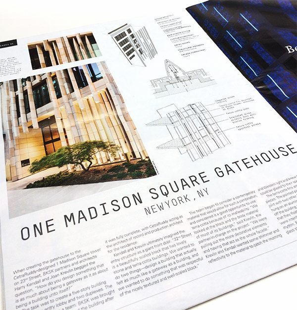 One Madison Square Gatehouse, Architects Newspaper, Boston Valley Terra Cotta, One Madison, New York City, Terra Cotta, BKSK Architects