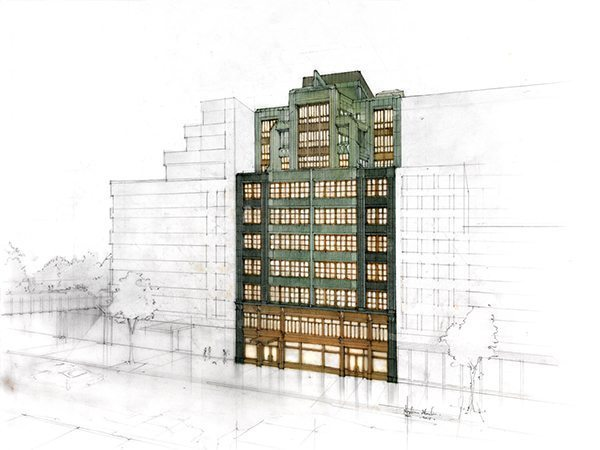 The Fitzroy, New York City, Architectural Rendering, Roman and Williams