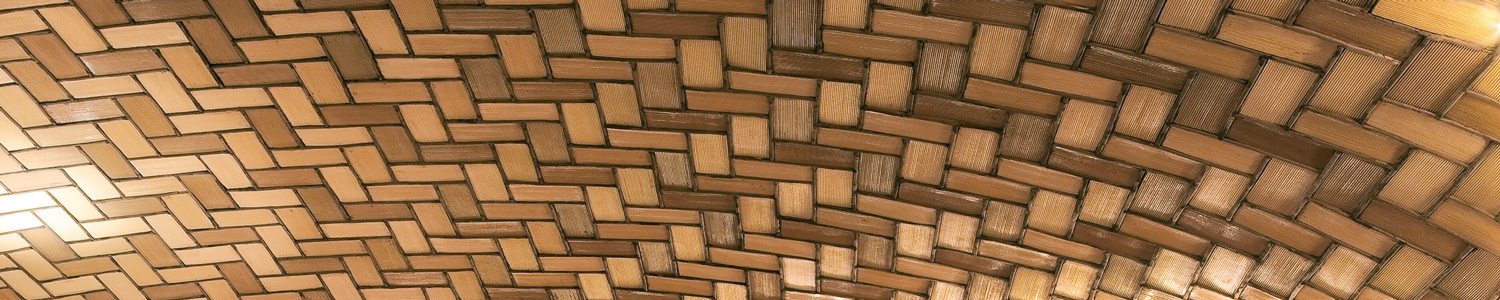 Detail shot of Grand Central Station, Oyster Bar Restaurant in New York City - Guastavino Tile constructed of layers of terra cotta tiles set in a herringbone pattern in Portland cement.