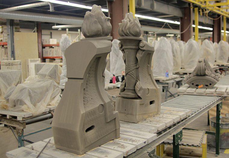Moynihan Train Hall, NYC, New York, SOM, slip casting, restoration, boston valley terra cotta, terra cotta masonry, architectural terra cotta