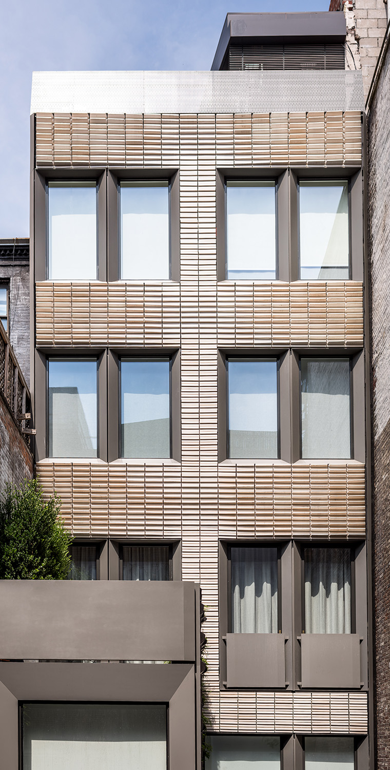 Michael K Chen Architects, MKCA, Boston Valley Terra Cotta, Architectural Terra Cotta, TerraClad, Architect's magazine, Friends of the upper east side historic district, residential architect design award, New York City, Upper East Side Townhouse