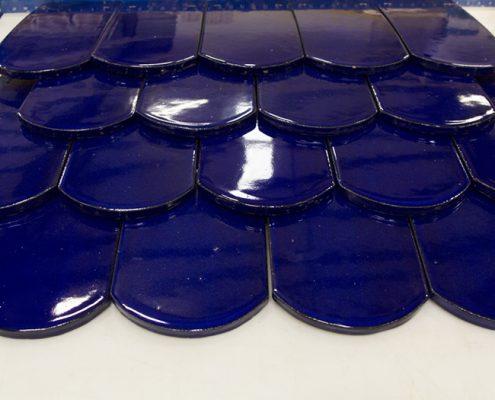 Boston Valley Terra Cotta, Ananda Sangha, Terra Cotta Roof Tiles, RAM Press, Hand Press, Custom Glaze
