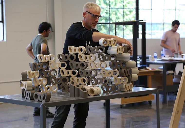 Radical Matter, boston valley terra cotta, university at buffalo, terra cotta extrusions, architectural ceramic assemblies workshop