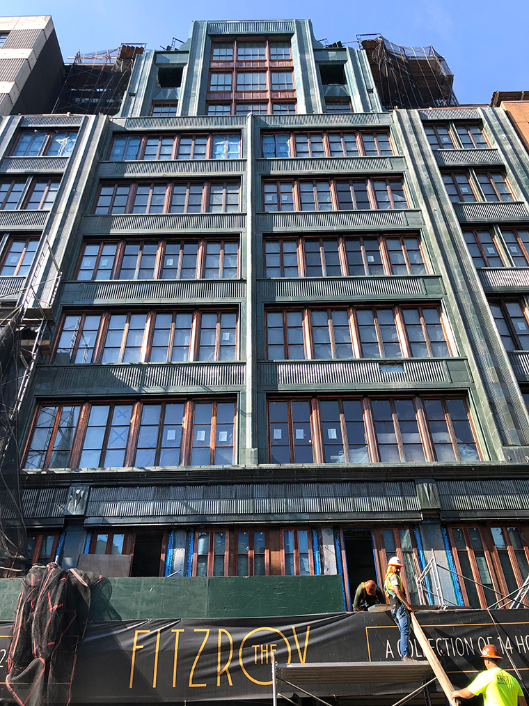 Fitzroy, NYC, West Chelsea, terracotta, facade, JDS Development, Roman and Williams