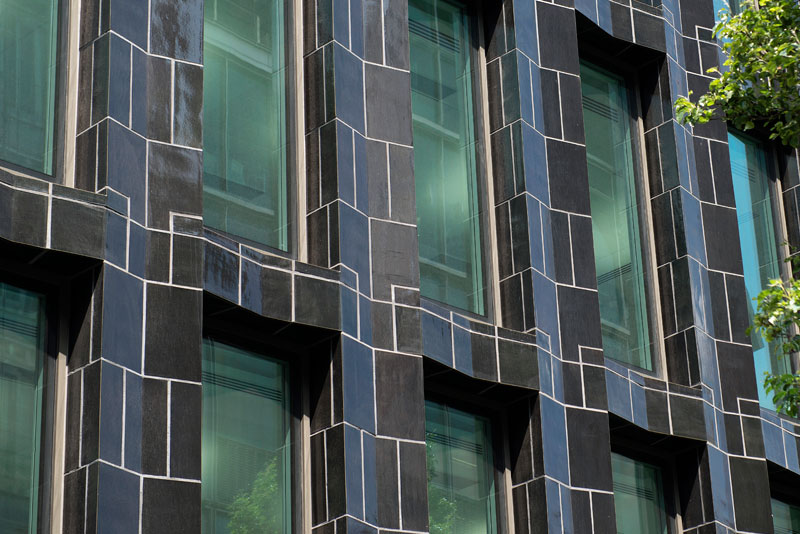 30 Broadwick, London, England, #TerraCottaUK, Custom Glaze, Geometric Facade, Szerelmey