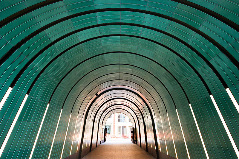 Rathbone Square, Newman and Rathbone Passages, London, #TerraCottaUK, Green Glaze, Terra Cotta