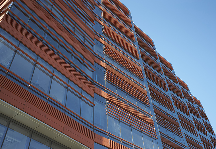 Roswell Park, Boston Valley Terra Cotta, TerraClad®, Unitized Louvers, FXFowle Architects