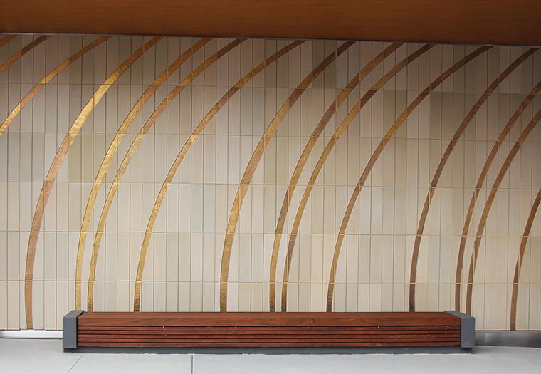 Pacific Gate Condominiums, San Diego California, Kohn Pedersen Fox, Custom Gold Glaze, Ram Press