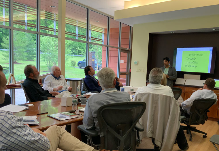 Boston Valley Terra Cotta, Annual Sales Meeting, 2019, Architectural Ceramic Assemblies Workshop
