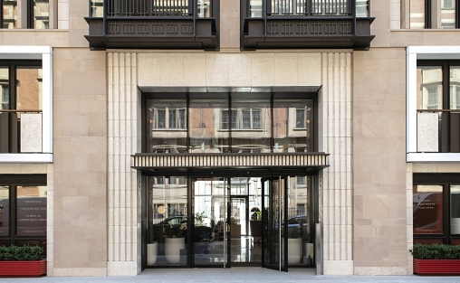 Lodha Group, PLP Architecture, Boston Valley Terra Cotta, Custom glaze, Terra cotta facade, architectural terra cotta, installation, london, england, united kingdom