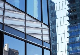 Unitized terra cotta panels and glass curtainwall for One Vanderbilt, designed by Kohn Pedersen Fox