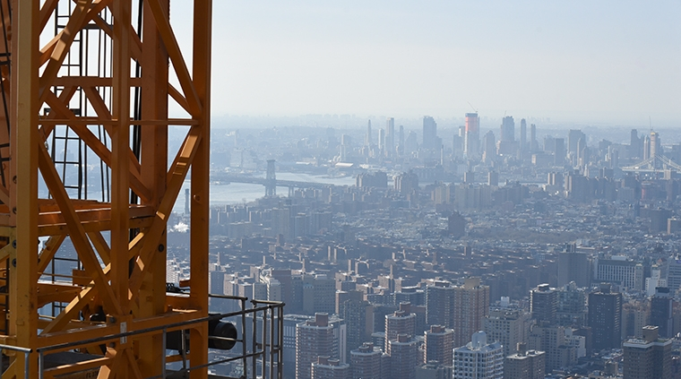 A view of New York City from the One Vanderbilt construction site in New York City last March