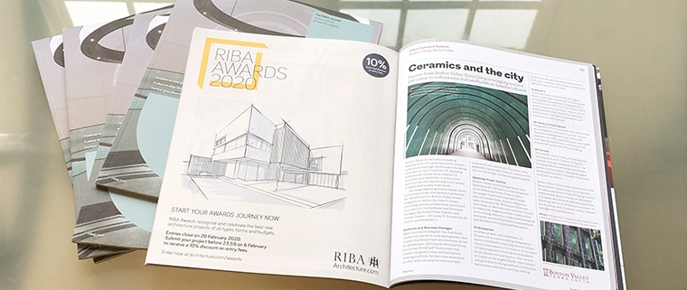 Boston Valley Terra Cotta's article in The RIBA Journal, January 2020