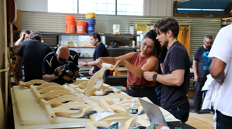Participants from SHoP Architects at the 2019 Architectural Ceramic Assemblies Workshop, photo credit: Michele Taberski