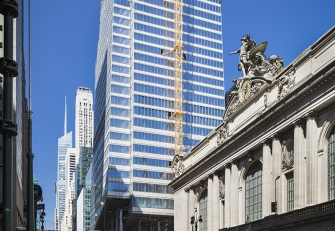 One Vanderbilt in New York City is a skyscraper designed by KPF that features white glazed terra cotta spandrels and soffits Boston Valley Terra Cotta