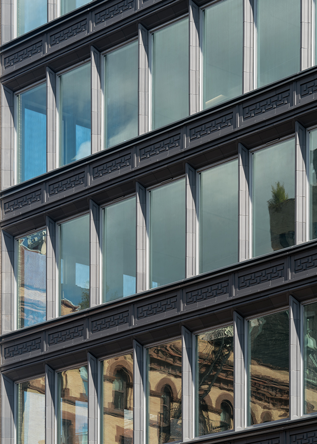 363 Lafayette, black terra cotta facade, terraclad® rainscreen manufactured by boston valley terra cotta
