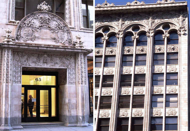 Boston Valley is manufactured terra cotta masonry for the facade at 65 Bleeker Street in New York City.