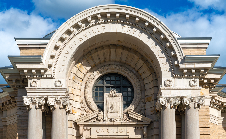 Gloversville Free Library, Gloversville NY, Butler Rowland Mays Architects, Restoration, Terra Cotta Masonry, Boston Valley Terra Cotta