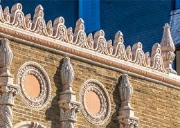 Capitol Theatre, Flint, MI, Grunwell-Cashero, Westlake Reed Leskosky, Restoration, Terra Cotta Masonry, Boston Valley Terra Cotta