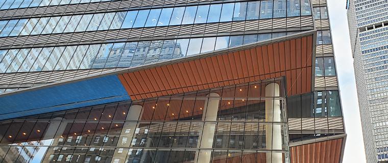 KPF's One Vanderbilt in New York City features white terra cotta spandrels by Boston Valley Terra Cotta along with orange soffits